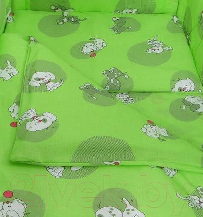 Купить Комплект в кроватку Фея, Наши друзья 6 (зеленый), Россия, хлопок, Наши друзья (Фея)