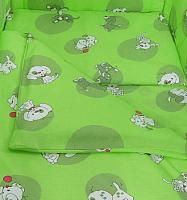 Комплект в кроватку Фея Наши друзья 6 (зеленый) -