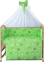 Комплект в кроватку Фея Наши друзья 7 (зеленый) -