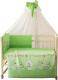 Комплект в кроватку Фея Веселая игра 7 (140x70, зеленый) -