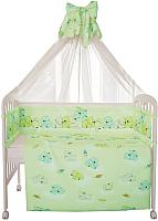 Комплект в кроватку Фея Мишки 10 (зеленый) -