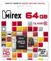 Карта памяти Mirex microSDXC UHS-I (Class 10) 64GB (13613-AD10SD64) -