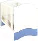 Детская кровать-трансформер Polini Kids Simple 140x70 (белый/синий) -