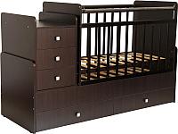 Детская кровать-трансформер Фея 1100 (венге) -