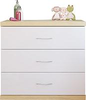 Комод Polini Kids Classic (дуб белый, глянец) -