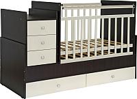 Детская кровать-трансформер Фея 1200 (венге/бежевый) -