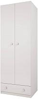Шкаф Polini Kids Simple двухсекционный с 1 ящиком (белый) -