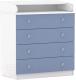 Комод пеленальный Polini Kids Simple 1580 (белый/синий) -