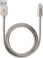 Кабель Deppa USB - 8-pin MFI / 72272 (алюминий/стальной ) -