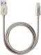 Кабель Deppa Steel USB - micro USB / 72273 (алюминий/стальной) -