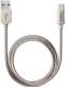 Кабель Deppa USB - USB Type-C / 72274 (алюминий/стальной) -