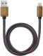Кабель Deppa USB - microUSB / 72276 (медь/джинса синий) -