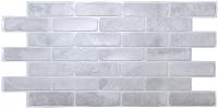 Панель ПВХ листовая Grace Кирпич старый серый -