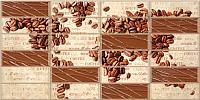 Панель ПВХ листовая Grace Плитка Кофейные зерна -