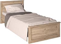 Односпальная кровать Интерлиния Лима ЛМ-К 90 (дуб корабельный серый) -