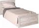 Односпальная кровать Интерлиния Лима ЛМ-К 90 (дуб корабельный белый) -