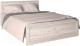 Полуторная кровать Интерлиния Лима ЛМ-К 140 (дуб корабельный белый) -