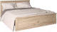 Двуспальная кровать Интерлиния Лима ЛМ-К 160 (дуб корабельный серый) -