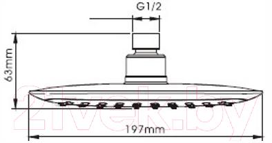 Верхний душ Ledeme M27
