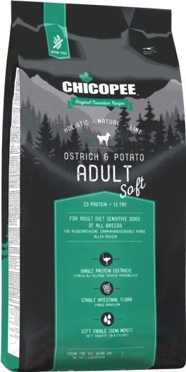 Купить Корм для собак Chicopee, HNL Soft Adult Ostrich & Potato (12кг), Канада