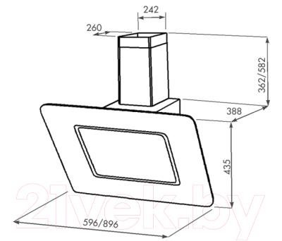 Вытяжка декоративная Zorg Technology Венера (Venera) 1000 (60, черный)
