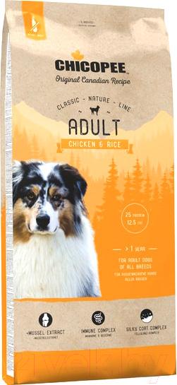 Купить Корм для собак Chicopee, CNL Adult Chicken & Rice (15кг), Канада