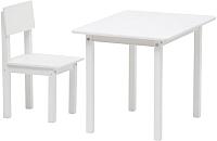 Комплект мебели с детским столом Polini Kids Simple 105 S (белый) -