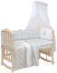 Комплект в кроватку Polini Kids Disney Последний богатырь 7 (лес/серый) -