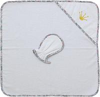 Комплект для купания Polini Kids Последний богатырь с вышивкой (принцесса белый) -