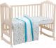 Комплект в кроватку Polini Kids Disney Последний богатырь (лес/голубой) -