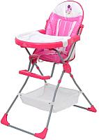 Стульчик для кормления Polini Kids Joy 252 Весенняя мелодия (розовый) -