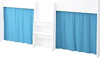Шторки для кровати-чердака Polini Kids 4100 (голубой) -