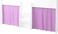 Шторки для кровати-чердака Polini Kids 4100 (розовый) -