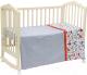 Комплект постельный в кроватку Polini Kids Кантри 3 (120x60, красный) -