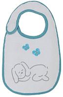 Набор нагрудников детских Polini Kids Зайки с вышивкой (голубой) -