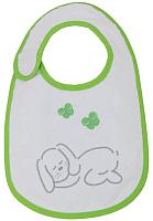 Набор нагрудников детских Polini Kids Зайки с вышивкой (зеленый) -