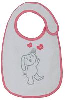 Набор нагрудников детских Polini Kids Зайки с вышивкой (розовый) -
