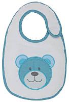 Набор нагрудников детских Polini Kids Плюшевые мишки с вышивкой (голубой) -