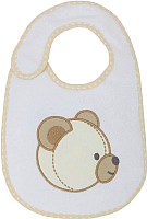 Набор нагрудников детских Polini Kids Плюшевые мишки с вышивкой (макиато) -