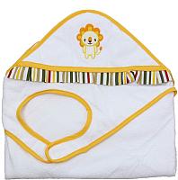 Полотенце с капюшоном Polini Kids Джунгли с вышивкой (оранжевый) -