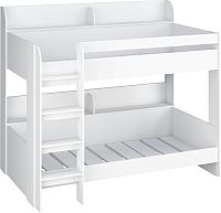 Двухъярусная кровать детская Polini Kids Simple 5000 (белый) -