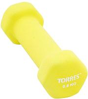 Гантель Torres PL550105 (0.5кг, желтый) -