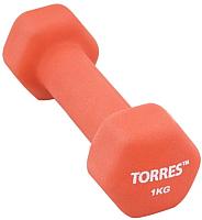Гантель Torres PL55011 (1кг, красный) -