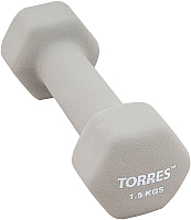 Гантель Torres PL550115 (1.5кг, серый) -