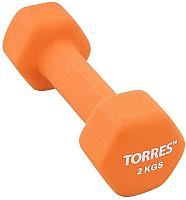 Гантель Torres PL55012 (2кг, оранжевый) -