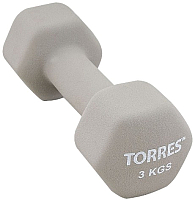 Гантель Torres PL55013 (3кг, серый) -