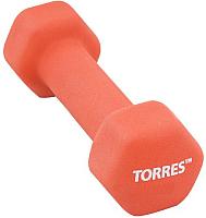 Гантель Torres PL55014 (4кг, красный) -