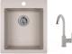 Мойка кухонная Granula GR-4201 + смеситель 35-05 (базальт) -