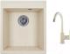 Мойка кухонная Granula GR-4201 + смеситель 35-05 (брют) -