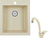 Мойка кухонная Granula GR-4201 + смеситель 40-03 (брют) -
